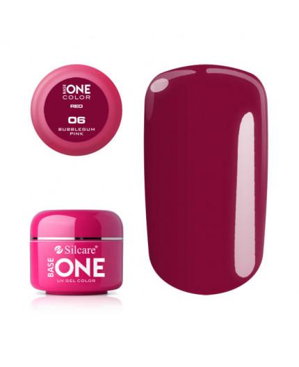 Silcare Base One Gel UV Red 06 - BubbleGum Pink