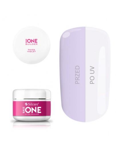 Base One Gel UV Thick Violet 100 grammi Costruttore monofasico - Silcare