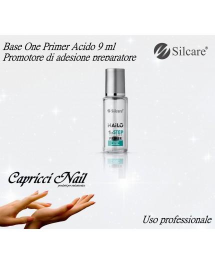 Base One Primer Nailo Acido 9 ml - Promotore di adesione Silcare