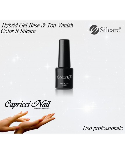 Silcare Color IT Hybrid Gel Base e Top Vanish - Smalto Gel Semipermante