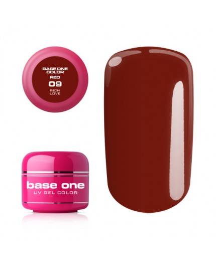 Silcare Base One Gel UV Red 09 - Rich Love